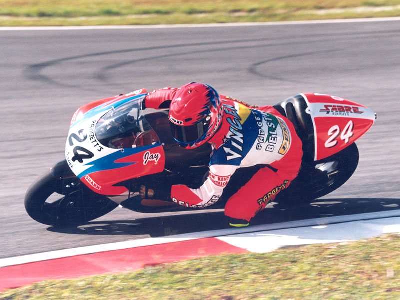 Jay Vincent - Padgetts-250cc Aprilia supported by Sabre Sports